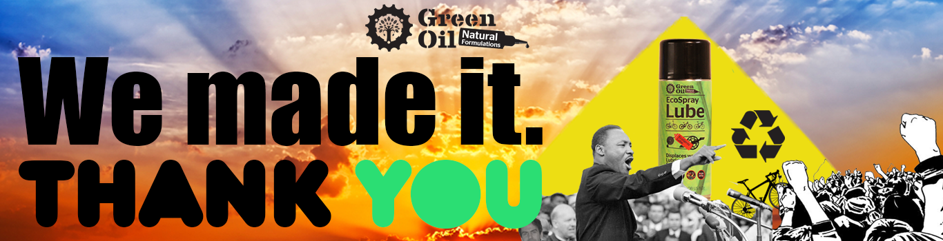 Green Oil EcoSpray Lube - click here to support the project on Kickstarter